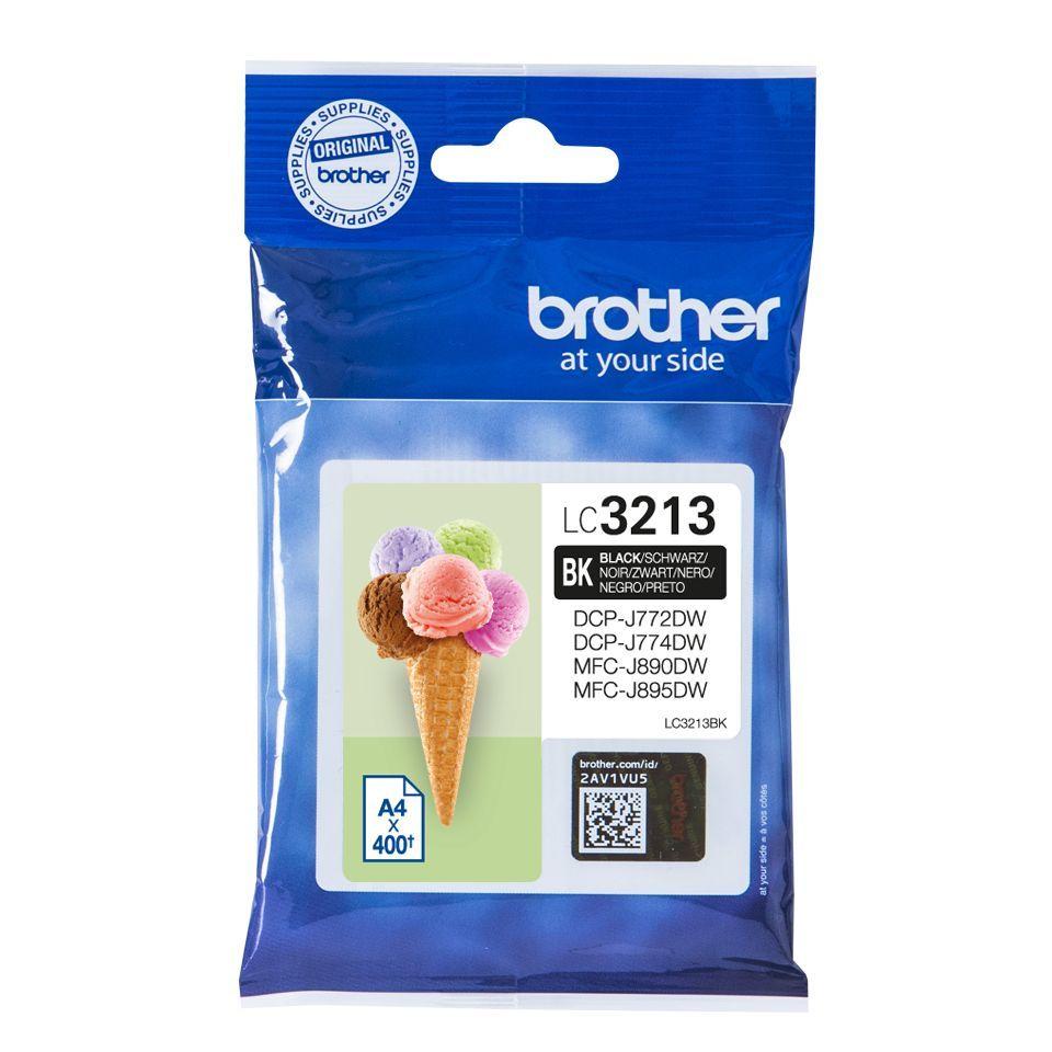 brother lc3213bk inktcartridge zwart 400 afdrukken