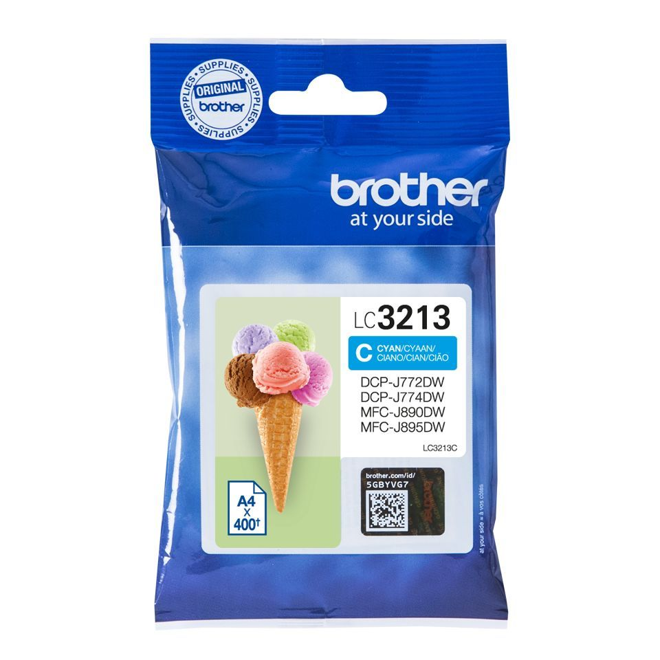 brother lc3213c inktcartridge cyaan 400 afdrukken