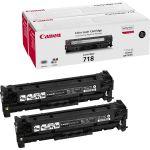 Canon 718 toner zwart 2-pack (2662B005)