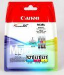 Canon CLI-521 multipack cyaan/magenta/geel