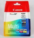Canon CLI-526 multipack cyaan/magenta/geel