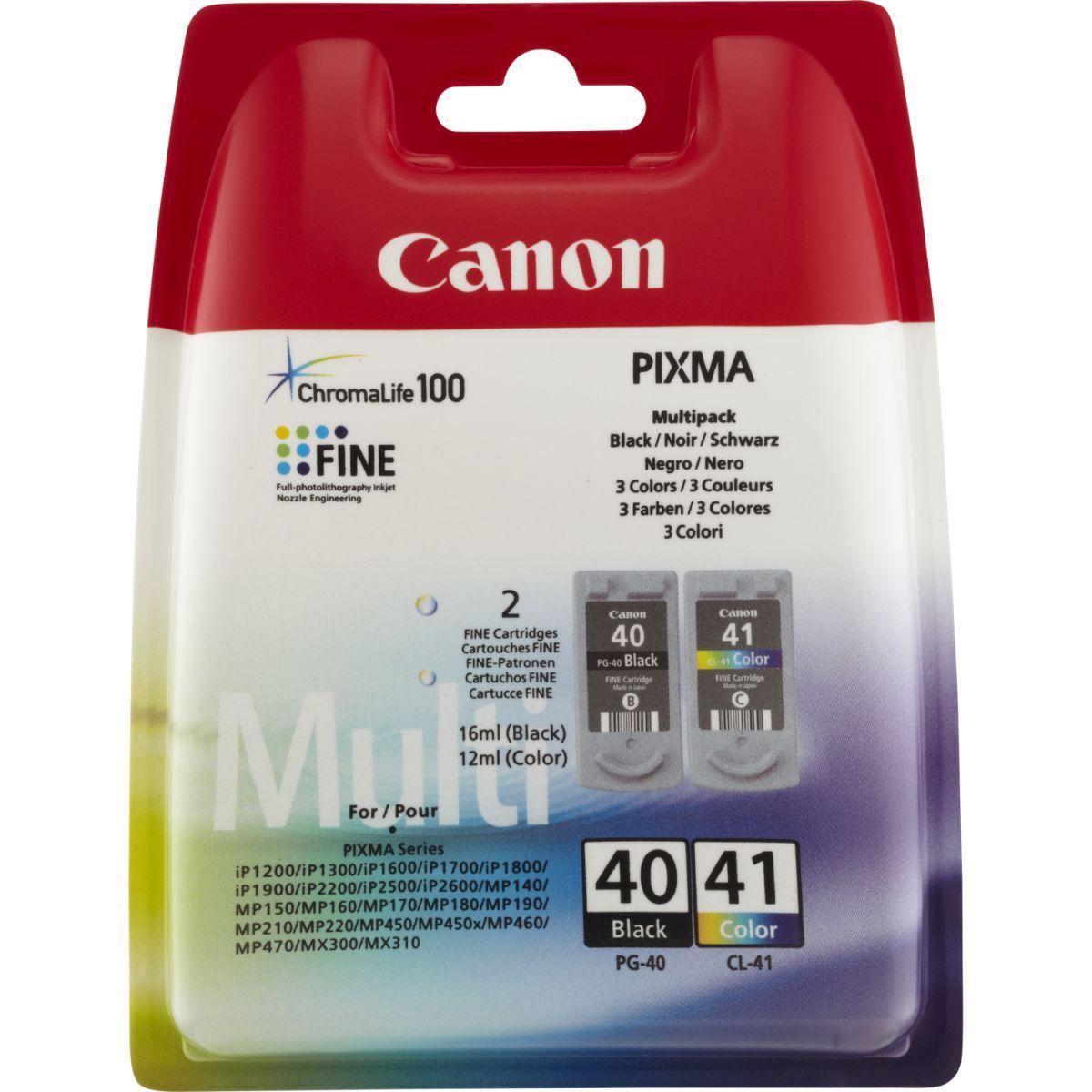 canon pg40 cl41 inktcartridge zwart en kleur