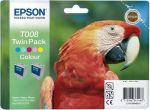 Epson inktcartridge T008 kleur / dubbelpak 2x46ml