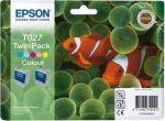 Epson inktcartridge T027 kleur / dubbelpak 2x46ml