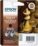 Epson inktcartridge T0511 zwart / dubbelpak 2x24ml
