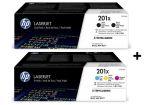 HP 201XD bundel (2-pack zwart CF400XD + 3-pack kleur CF253XM)