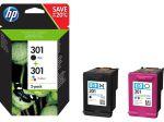 HP 301 2-pack (zwarte + drie-kleuren cartridge)