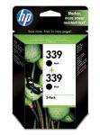 HP 339 zwarte inktcartridge dubbelpak / 2 x 860 afdrukken