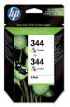 HP 344 drie-kleuren inktcartridge dubbelpak / 2 x 560 afdrukken