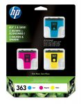 HP 363 inktcartridge 3-pack cyaan/magenta/geel