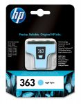 HP 363 lichtcyaan inktcartridge / 220 foto's