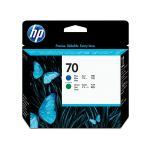 HP 70 blauwe + groene printkop