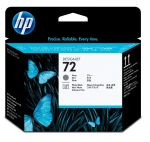HP 72 grijze en photo black printkop