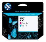 HP 72 magenta en cyaan printkop