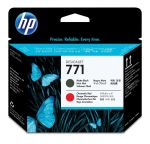 HP 771 matzwarte/chromatisch rode Designjet printkop
