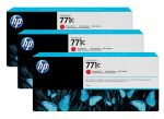 HP 771C chromatisch rode Designjet inktcartridge, 3-pack / 3x775 ml