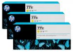HP 771C gele Designjet inktcartridge, 3-pack / 3x775 ml