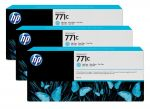 HP 771C licht cyaan Designjet inktcartridge, 3-pack / 3x775 ml