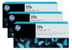 HP 771C lichtgrijze Designjet inktcartridge, 3-pack / 3x775 ml