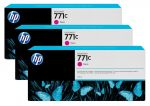 HP 771C magenta Designjet inktcartridge, 3-pack / 3x775 ml