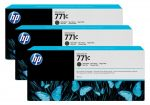HP 771C matzwarte Designjet inktcartridge, 3-pack / 3x775 ml