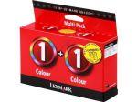 Lexmark 1 inktcartridge kleur, voordeelpak/2 cartridges