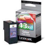 Lexmark 43XL inktcartridge kleur / 500 afdrukken