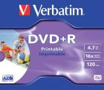 Verbatim DVD+R / 4,7Gb / 16speed printable / jewelcase